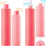 Plastic bottles for cosmetics. Series 167. 250, 400 ml
