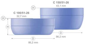 Баночки для крема серии 51 (100, 150 мл) - щелкните, чтобы посмотреть увеличенное фото