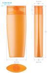 Plastic bottles for cosmetics. Series 158. 250 ml