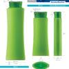 Пластиковые флаконы. Серия 90 - Бамбей. 500, 250 мл