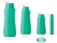 Plastic bottles for cosmetics. Series 169. 150, 250, 400 ml