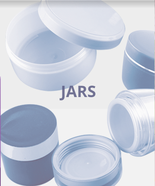 Jars for cosmetics, pharmaceuticals, food and household chemicals