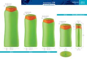 Пластиковые флаконы. Серия 134 - Венеция. 400, 250, 200, 150 мл