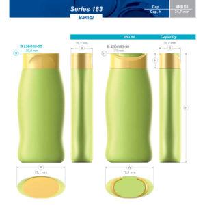 Пластиковые флаконы. Серия 183. 250 мл