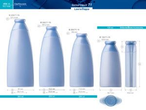Пластиковые флаконы. Серия 71 - Лаура. 300, 250, 200, 150 мл